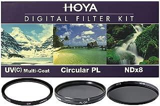 Hoya 58mm (HMC UV/Circular Polarizer / ND8) 3 Digital Filter Set with Pouch