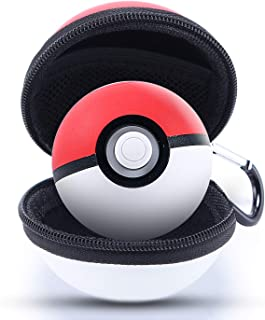 Carrying Case Compatible with Poke Ball Plus Controller, Hard EVA Protective Storage Case Compatible with Pokemon Lets Go Poke Ball Plus for Switch Lets Go Pikachu Lets Go Eevee Game - Red White