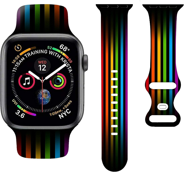 lgbt Watch Bands Smart band Compatible iWatch Super intense SALE Si quality assurance Soft
