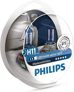 Philips - Diamond Vision H11 Halogen HID Super White 5000K (Pair) (Renewed)