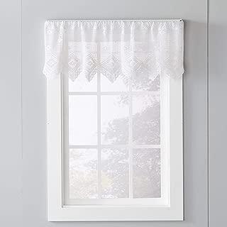 SKL Home by Saturday Knight Ltd. Birkin Valance, White, 49 inches x 15 Inches