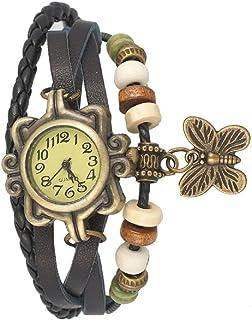 Meclub Analogue Yellow Dial Dori Watch Girl's & Women's Watch (Black)