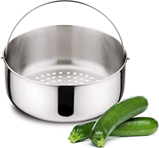Lagostina Accessoire pour panier à vapeur pour autocuiseur, acier inoxydable, diamètre 18 cm pour la capacité; 7 litres