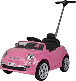 Best Ride On Cars Fiat 500 Push Car, Pink
