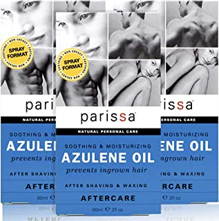 Parissa Azulene Aftercare Waxing Oil (2 fl. oz), Pack of 3