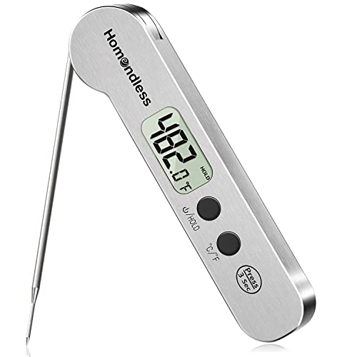 2021 Upgraded Meat Thermometer Instant Read Stainless Steel Ultra-Fast Digital Food Cooking Thermometer IP67 Waterproof Magnet Backlight for Kitchen Food Cooking