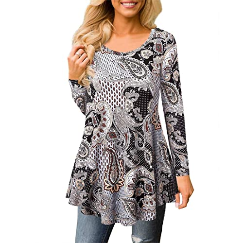 2d34ce23133 MIROL Womens Summer Short Sleeve Floral Print Irregular Hem Asymmetrical  Loose Fit Tunic Tops