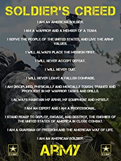 Soldiers Creed Poster Army Poster Military Gifts Army Gifts