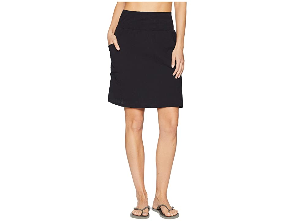 Prana Sugar Pine Skirt (Solid Black) Women