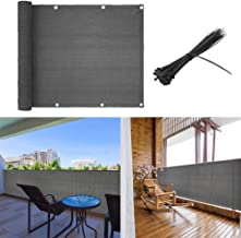 shsyue Balcony Cover Privacy Filter Weather-Resistant Wind Screen Anthracite UV Protection Balcony Covering with Cable Tie...