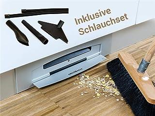 Gronbach Sockelsauger E6 Aluminium Staubsauger zum Einbauen inkl. Schlauchset