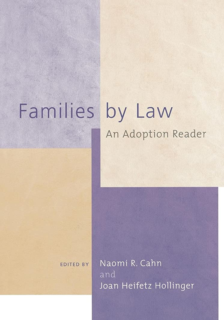 謎めいた記念品純粋にFamilies by Law: An Adoption Reader