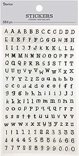 Darice 30052970 Alphabet Stickers: Black, 384 Pack