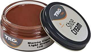 TRG Leather Cream Shoes for Bags, Nourishment and Care, Many Colors, 1.7 fl.Oz (129 - Light Brown)