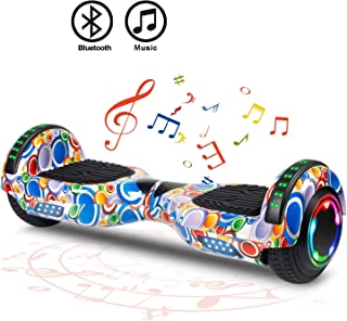 """FLYING-ANT Hoverboard Self Balancing Scooters 6.5"""" Flash Two-Wheel Self Balancing Hoverboard with Bluetooth Speaker and LED Lights for Kids and Adults Gift"""