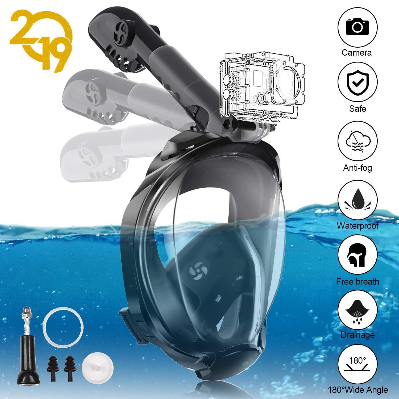 YUNDOO Máscara de Buceo, Máscara de Snorkel 180 ° Facial Completa ...