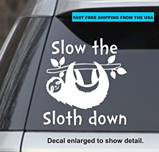 Doors Hoods Red StickAny Car and Auto Decal Series Sloth Hanging Sticker for Windows