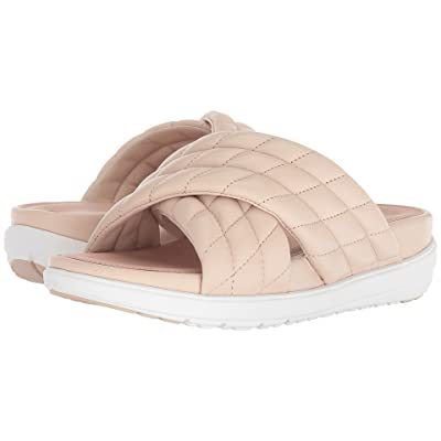 FitFlop Loosh Luxetm Cross Slide Leather Sandals (Nude Leather) Women