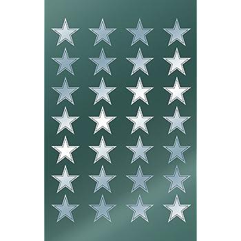 argento Avery Zweckform Adesivi natalizi a stella 56 pezzi