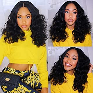 Sponsored Ad - Body Wave Human Hair Lace Front Wigs Virgin Remy Human Hair Wigs Brazilian Wig with Natural Hairline Pre Pl...