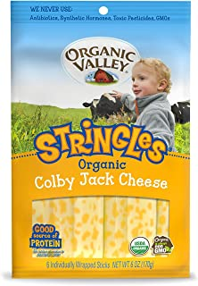Organic Valley, Organic Colby Jack Cheese Stringles - 6 oz Packet