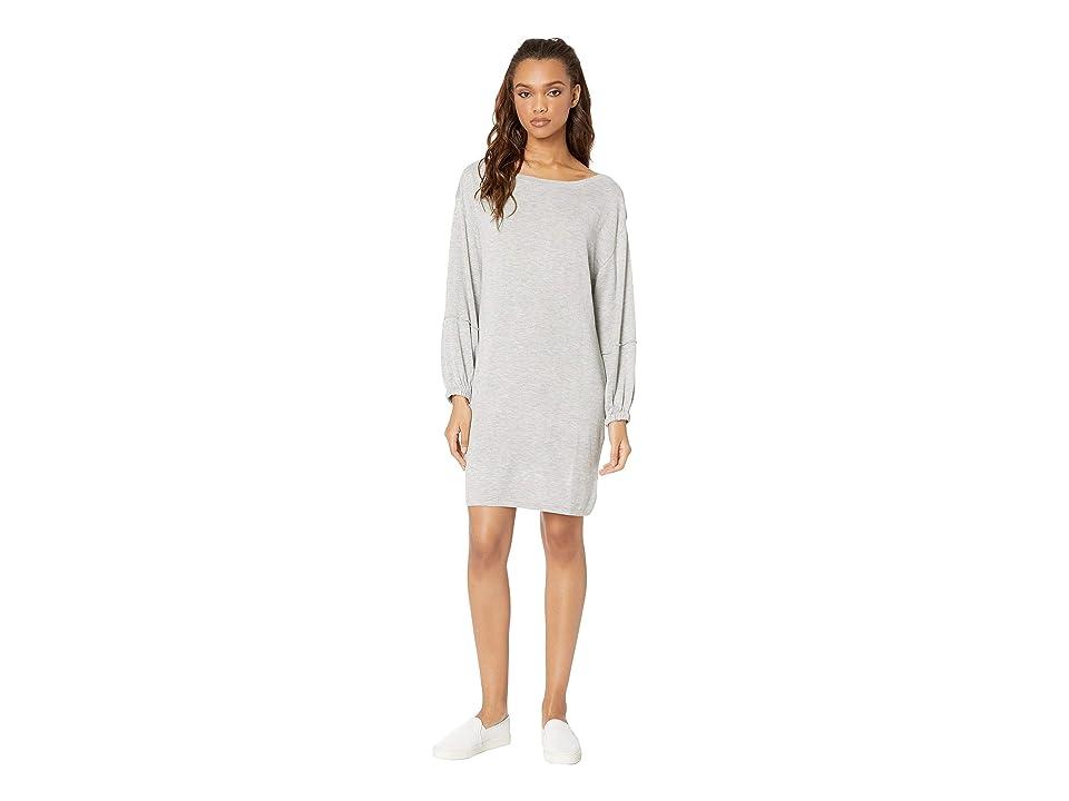 Splendid Nova Cashmere Blend Sweater Dress (Light Grey) Women
