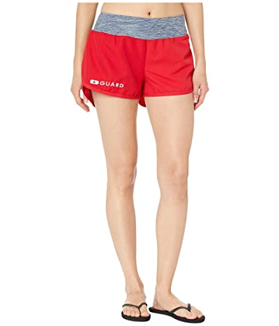 Speedo Guard Shorts w/ Stretch Waistband (Speedo Red) Women