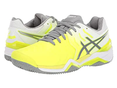ASICS Gel-Resolution 7 Clay Court (Safety Yellow/Grey) Women