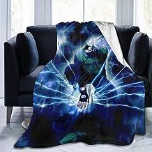 Aoocasi Microfiber Warm Flannel Soft Cozy Premium Fleece Bed Blanket Naruto Hatake Kakashi Anime Blanket Breathable Solid ...