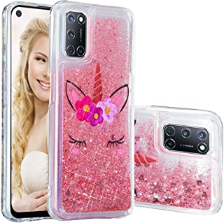 ISADENSER Compatible with Oppo A52 2020 Case ,Oppo A72 Case ,Oppo A92 Case Clear TPU Glitter Stylish with 3D Hearts Quicks...