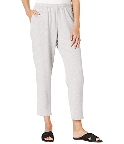Eileen Fisher Organic Cotton Fleece Tapered Ankle Pants (Dark Pearl) Women
