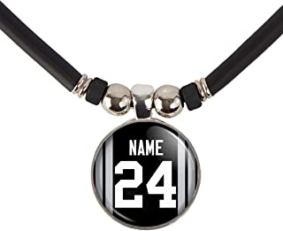 Oakland Football Jersey Necklace Personalized with Your Name and Number Oakland Football Jersey Glass Pendant Necklace Jewelry- Custom Oakland Football Jersey Glass Charm Necklace