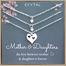 Best mother daughter necklace set of 3 Reviews