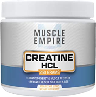 Creatine HCl Powder - Muscle Building & Recovery Support - 250 Grams - Muscle Empire