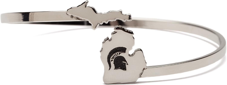 Michigan State Bracelet   Michigan State Spartan Helmet Bangle B