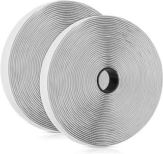 Klettband Selbstklebend Extra Stark, Vegena Klettband Selbstklebend 10M, Klettverschluss Selbstklebend Doppelseitiges Klettband Selbstklebendes Flauschband Hakenband Fliegengitter, 20mm Breit Weiß