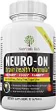 Premium Brain Supplement, Brain Booster, Promotes Focus, Clarity, Memory & Brain Cognitive Function - Physician Formulated Mood Nootropic Stack with Ginkgo Biloba, St. John's Wort* - 30 Day Supply