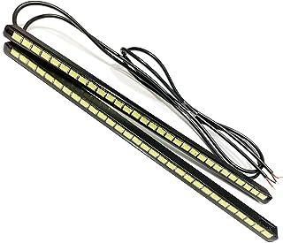 リーフ ZE1 デイライト LED 防水 2本セット ホワイト 改良タイプ 12V 薄型 極細 27LED 埋め込み 日産