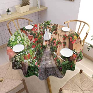 Waynekeysl Round Tablecloth,Home Round Tablecloth,Premium Round Tablecloth,Tuscan,Polyester Fabric-(66
