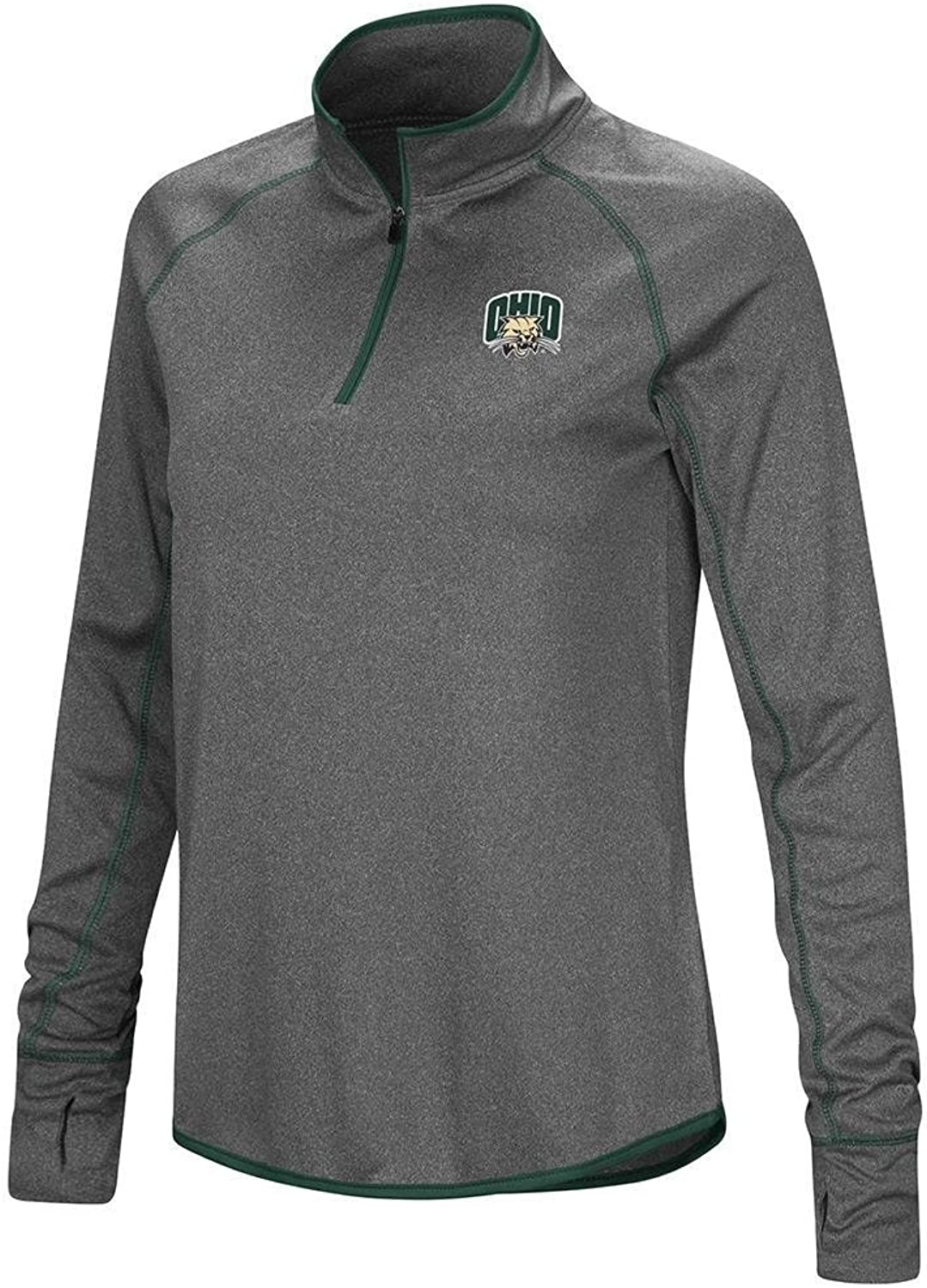 Colosseum Womens Ohio Bobcats Quarter Zip Wind Shirt