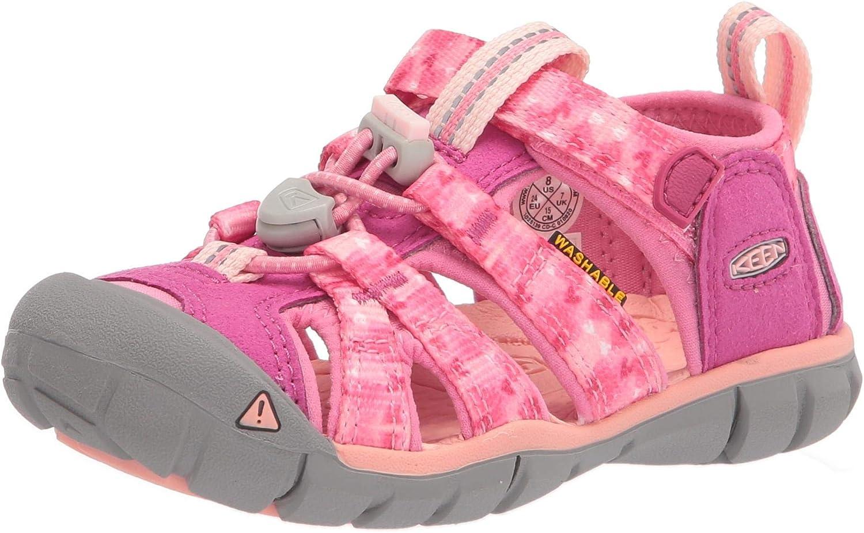 KEEN Little Kid's Seacamp 2 CNX Closed Toe Sandal, Very Berry/Pink Carnation, 8 LK (Little Kid's) US