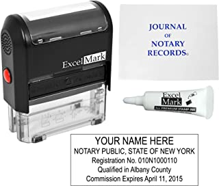 ExcelMark Self Inking Notary Stamp Kit - New York
