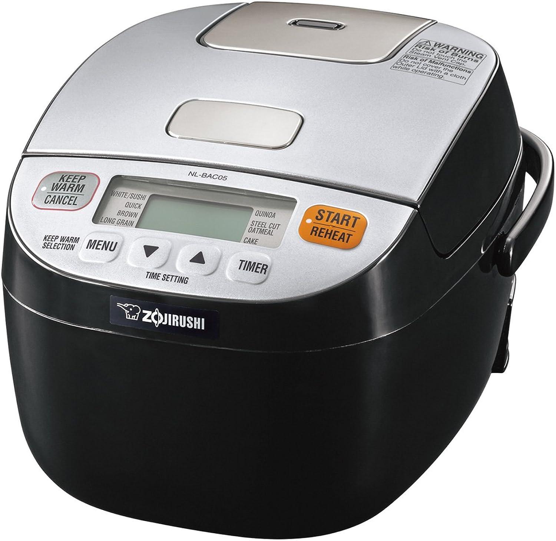 Zojirushi NL-BAC05SB Micom Rice Cooker & Warmer, Silver Black