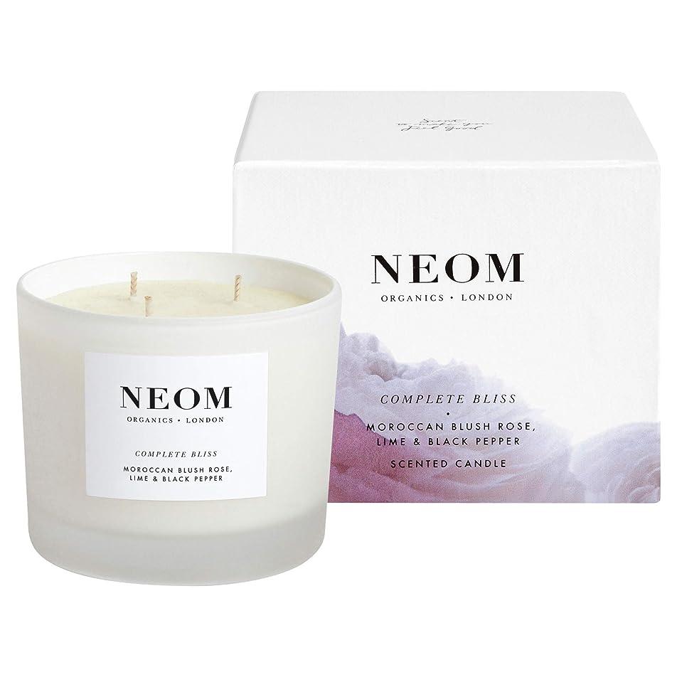 環境保護主義者人里離れた熟考する[Neom] Neom完全な至福3芯キャンドル420グラム - Neom Complete Bliss 3 Wick Candle 420g [並行輸入品]