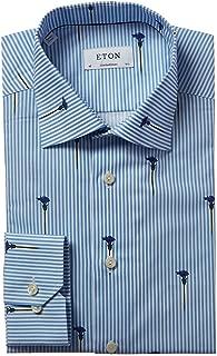 Mens Contemporary Fit Dress Shirt, 41, Blue