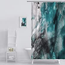 Shower Curtain abstract background watercolor background abstract oil on abstract watercolor art hand Art Print Polyester Fabric Bathroom Decor Sets with Hooks 72 x 72 Inches, Green