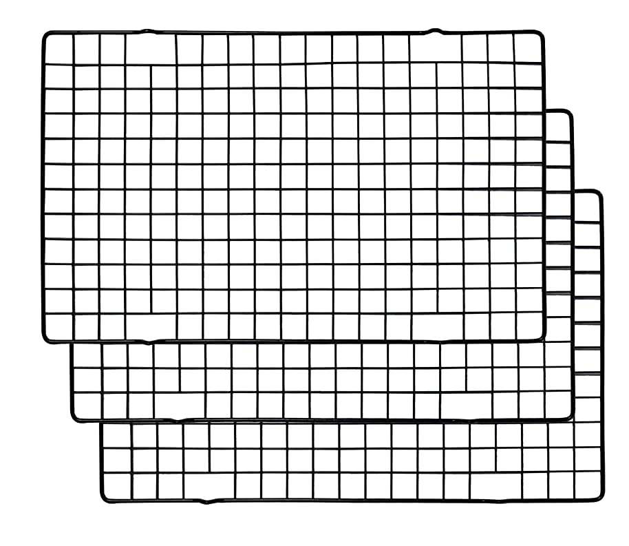 Richohome 10 x 16 inches Black Nonstick Cooling Rack Baking Rack - Cool Cookies, Cakes, Breads, Pack of 3