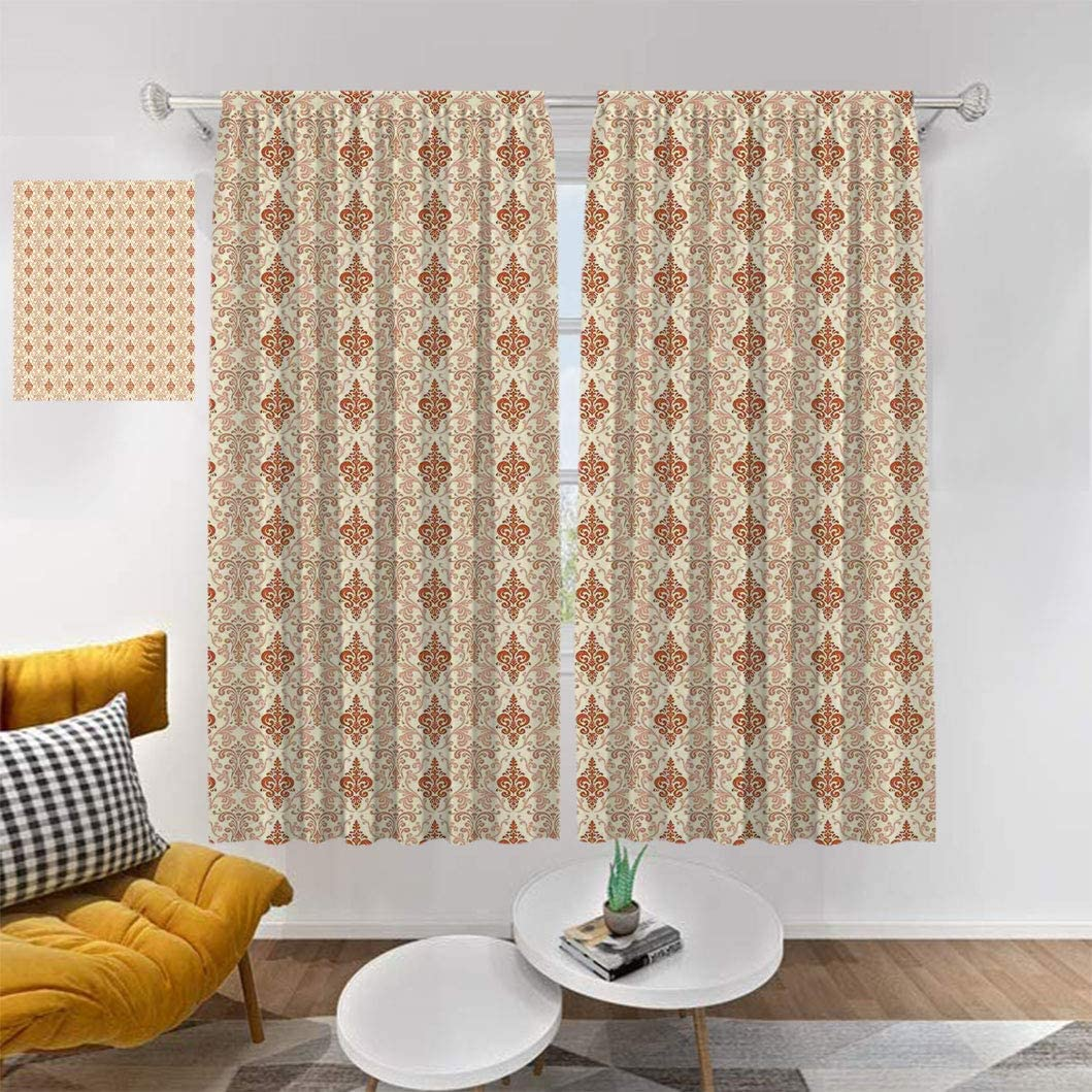 Antique Blackout Curtain Panels Phoenix Mall Botanical Nature 5% OFF Pattern V with