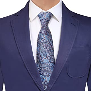 Y&G Men's Fashion Series Gift Extra Long Tie Fashion Silk Paisley Tie Gift Idea