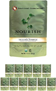 Functional Formularies Nourish Organic Tube Feeding Formula and Nutritional Meal Replacement Supplement, 12 Pack